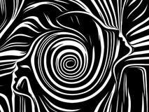 El escape de líneas internas stock de ilustración