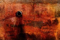 El escape tóxico químico de las aguas residuales del peligro sucio del Grunge mancha foto de archivo