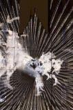 El escape videomapping la proyección ligera en la iglesia de Ludmila del santo en Praga de Laszlo Zsolt Bordos en el festival de  Imágenes de archivo libres de regalías