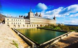 El Escorial. General vew of Royal Palace Royalty Free Stock Images