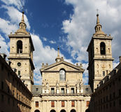 El escorial, madrid, facade of the basilica Stock Photos