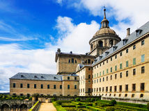 El Escorial, Madrid Spain. The monastery/palace of El Escorial in San Lorenzo de el Escorial. The palace is one of the main highlights in the region of Madridd Royalty Free Stock Photos
