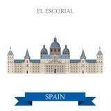 El Escorial monasteru królewiątka siedziby Madryt Hiszpania mieszkania wektor royalty ilustracja
