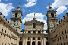 El Escorial near Madrid, Spain. El Escorial was built in the 1700s by the Spanish Emperor Stock Photos