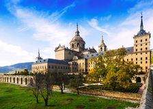 El Escorial. View of Royal Palace in autumn day Royalty Free Stock Image