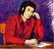 El escritor Imagen de archivo