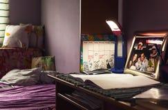 El escritorio de la hija Fotografía de archivo