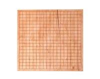 El escritorio de madera para el boardgame va Fotografía de archivo