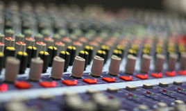 El escritorio de mezcla Fotografía de archivo