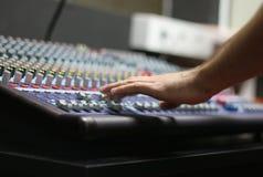El escritorio de mezcla Fotos de archivo