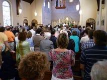 El escuchar el sermón de Pascua Fotografía de archivo