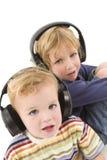 El escuchar junto Imagen de archivo libre de regalías