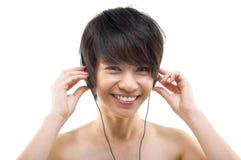 El escuchar la música Imágenes de archivo libres de regalías