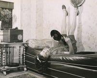 El escuchar los expedientes Foto de archivo