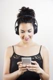 El escuchar mi música Fotografía de archivo libre de regalías