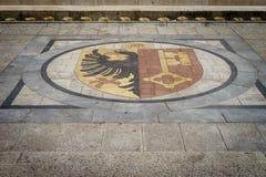 El escudo de armas de Ginebra imagenes de archivo