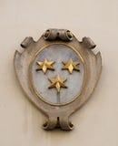 El escudo de armas de la fachada en el centro histórico de Landhaus enumeró como patrimonio mundial de la UNESCO en Graz Imagen de archivo