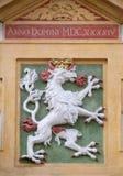 El escudo de armas de la fachada en el centro histórico de Landhaus enumeró como patrimonio mundial de la UNESCO en Graz Imagenes de archivo
