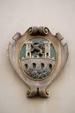 El escudo de armas de la fachada en el centro histórico de Landhaus enumeró como patrimonio mundial de la UNESCO en Graz Imágenes de archivo libres de regalías