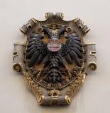 El escudo de armas de la fachada en el centro histórico de Landhaus enumeró como patrimonio mundial de la UNESCO en Graz Foto de archivo libre de regalías