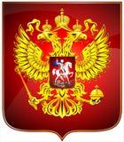 El escudo de armas de la Federación Rusa Fotos de archivo libres de regalías