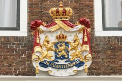 El escudo de armas holandés - Je Maintiendrai Imagen de archivo