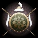 El escudo del nómada Imagen de archivo