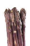 El espárrago púrpura alancea vertical Fotos de archivo