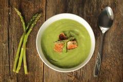 El espárrago soup Fotografía de archivo