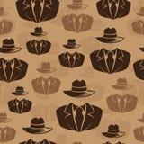 El espía del icono, agente secreto, Vector el fondo inconsútil Imagen de archivo libre de regalías