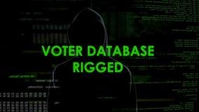 El espía peligroso aparejó la base de datos del votante, información incorrecta, fracaso de las elecciones almacen de video