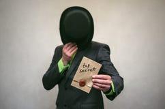 El espía Servicio secreto Agente de Detecive Imágenes de archivo libres de regalías
