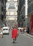El español camina Roma Italia Imágenes de archivo libres de regalías