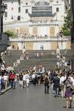 El español camina Roma Italia Imagenes de archivo