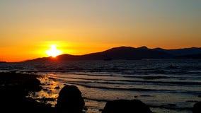 El español deposita puesta del sol Fotografía de archivo