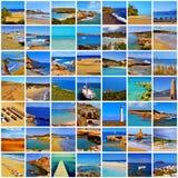 El español vara el collage fotografía de archivo libre de regalías