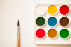 El espacio de trabajo del artista Imagen de archivo libre de regalías