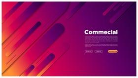 El espacio gráfico futurista colorido de aterrizaje geométrico de la página del extracto su texto here_rounded abstracto ilustración del vector