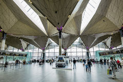 El espacio interno del terminal internacional de la PU del aeropuerto Fotos de archivo libres de regalías