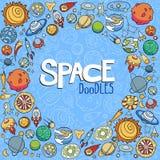 El espacio se opone garabatos Foto de archivo libre de regalías