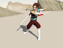 El espadachín Foto de archivo libre de regalías