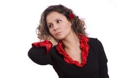 El español de Víspera de Todos los Santos viste a la mujer. Fotos de archivo libres de regalías