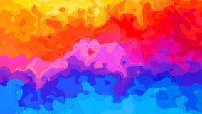 El espectro completo video manchado animado del fondo colorea el arco iris horizontal