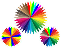 El espectro de color Imagen de archivo libre de regalías