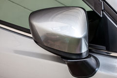 El espejo lateral del coche fotos de archivo libres de regalías