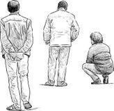 El esperar de la gente Imagen de archivo libre de regalías
