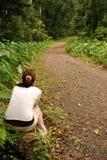 El esperar de la muchacha Imagen de archivo libre de regalías