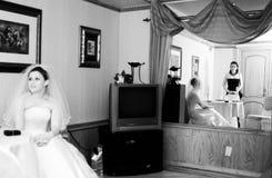El esperar de la novia imagen de archivo