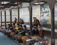 El esperar de los monjes Fotografía de archivo libre de regalías