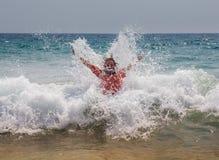El esperar de una onda Imagen de archivo libre de regalías